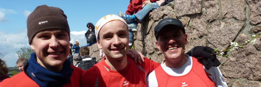 Rote Socken am sächsischen Mt. Everest